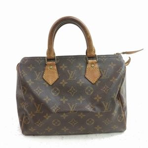 Auth Louis Vuitton Speedy 25 Satchel Bag #2172L14